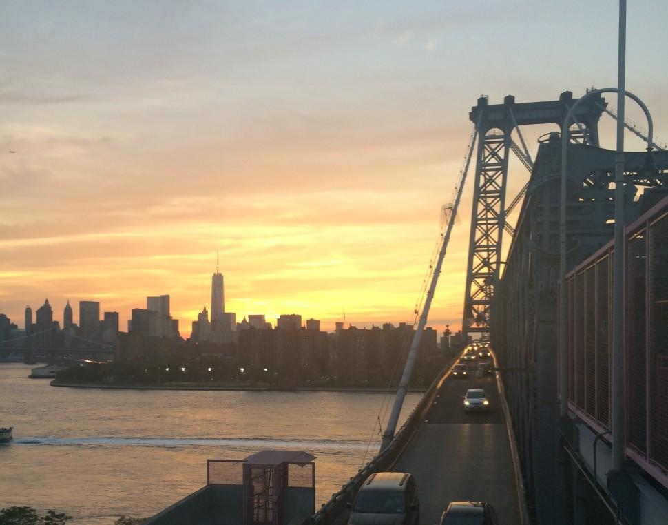 sunset, Williamsburg-Bridge, new-york,