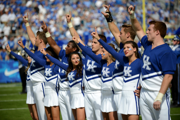 university-of-kentucky, uk-athletics, football, cheerleaders, elliott-hess, zelda-and-scout