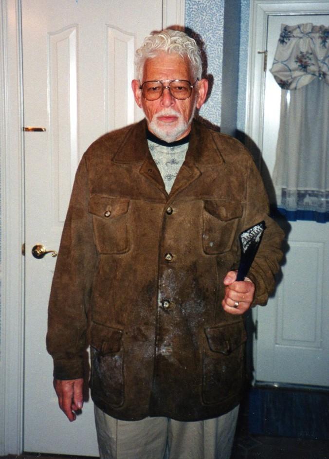 Lee Harrow's feelings about winter weather, in a photo.