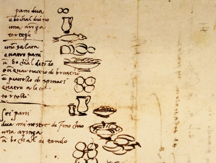 Even Michelangelo made grocery lists, via OpenCulture
