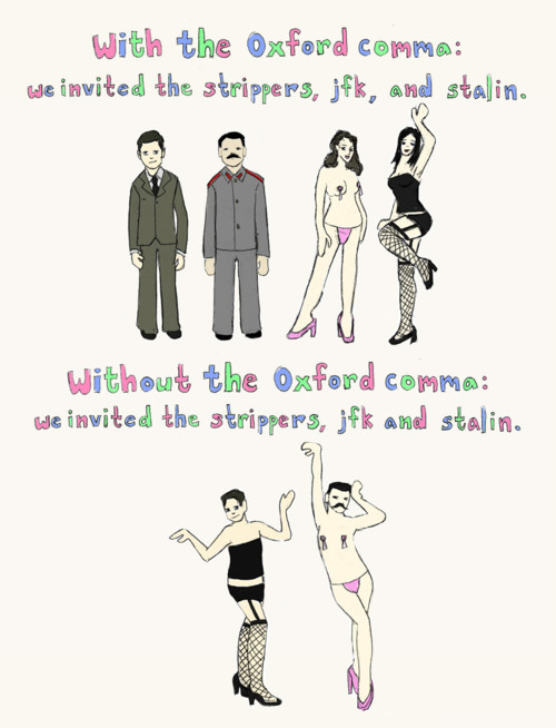 Team Oxford Comma for life. (Via Verbicide Magazine)