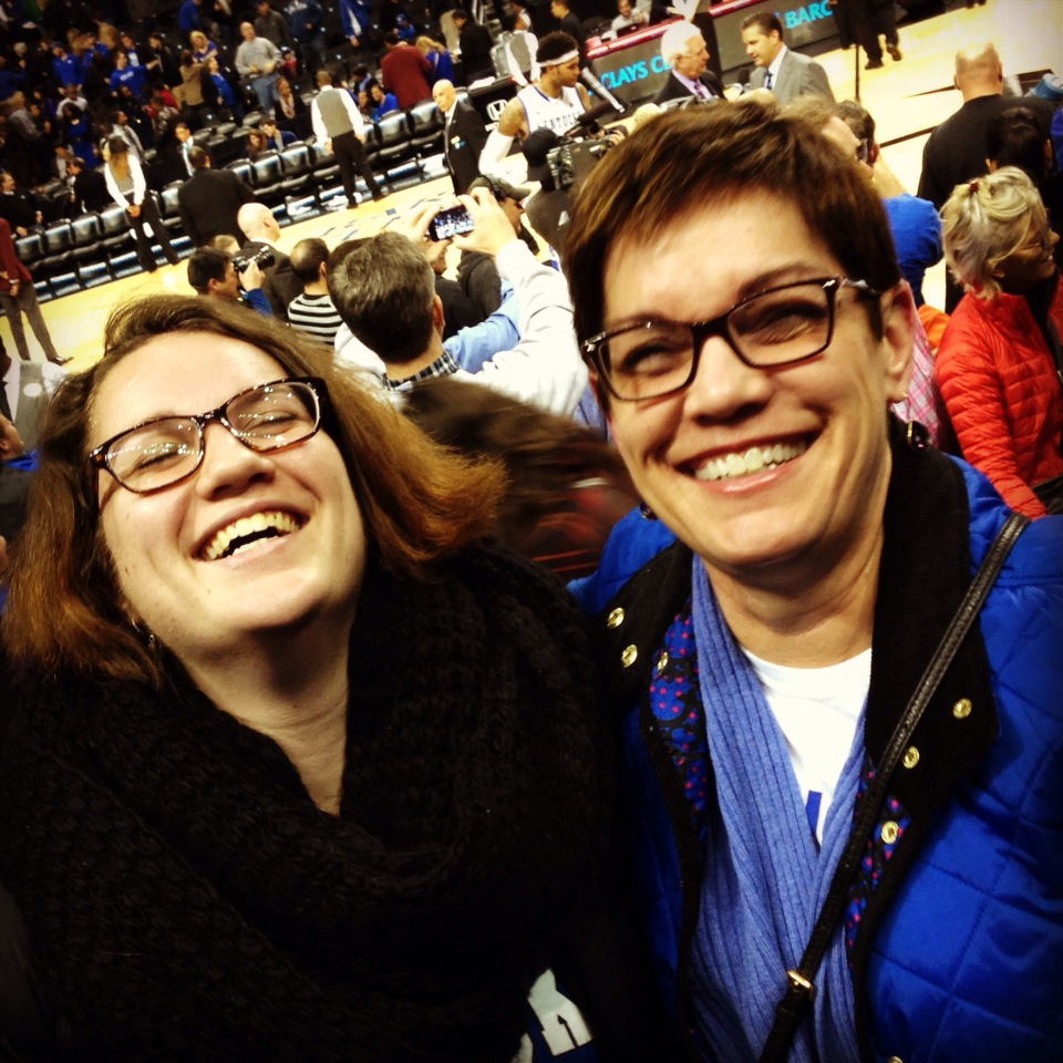 The Momma and I at Rupp after a win.