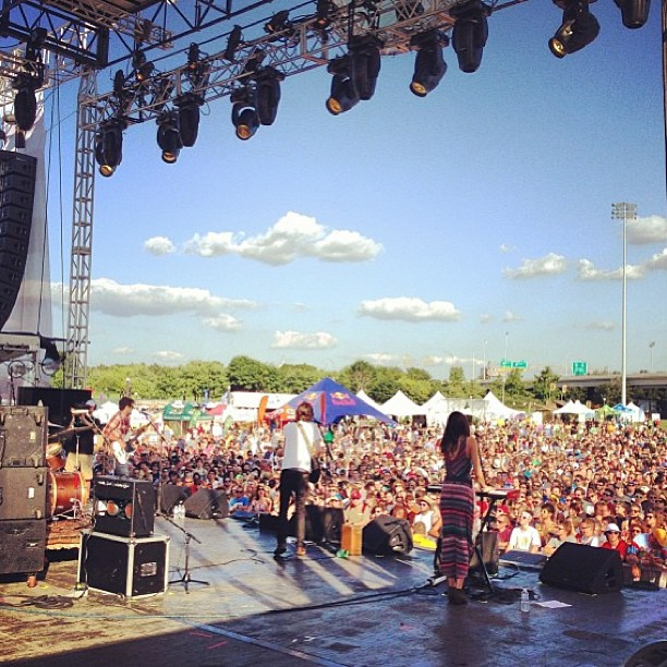 View from the Mast Stage, Forecastle 2013