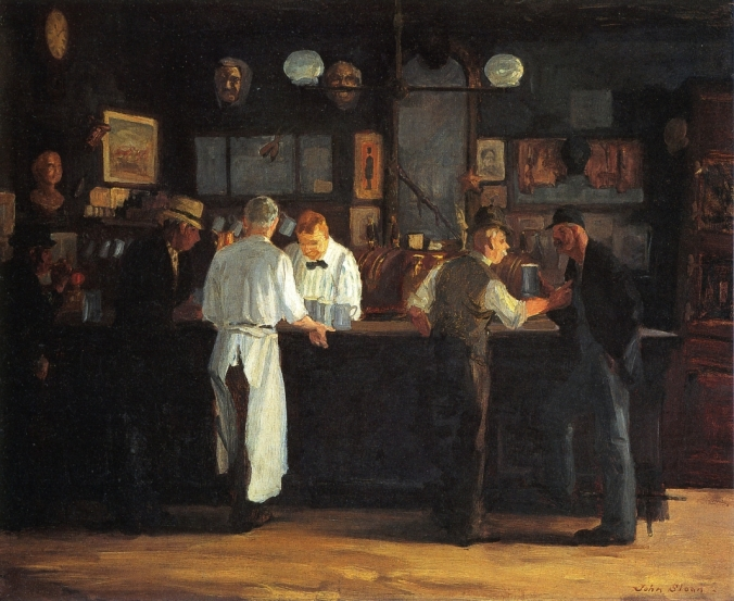 John French Sloan, McSorely's Bar, 1912 (Detroit Institute of Arts)