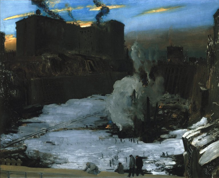 George Bellows, Pennsylvania Station Excavation, 1909 (Brooklyn Museum)