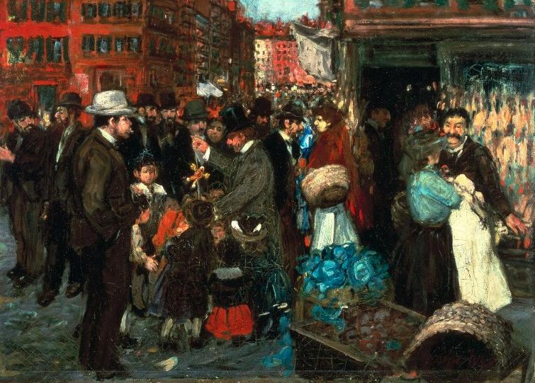 George Benjamin Luks, Street Scene (Hester Street), 1905 (Brooklyn Museum)