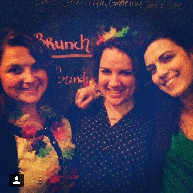 Me and my lovely roommates, who are featured here in writing, and so should be visually.