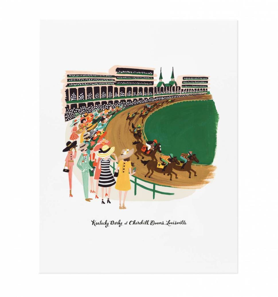 Kentucky Derby Art Print ($40 from Rifle Paper Co.)