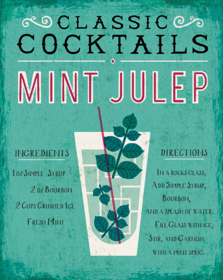 Classic Cocktails, Mint Julep by Michael Mullan ($35 from Groovy Gravy)