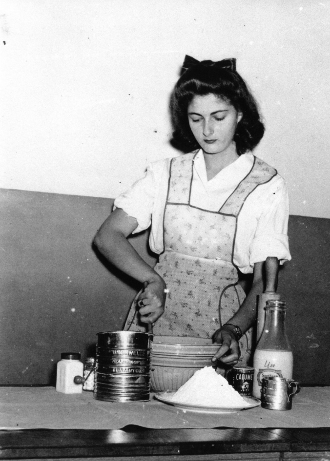 My grandmother in Home Economics class at her Atlanta school, age 14 (yes, you read that correctly)